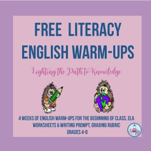 Free Literacy English Warm-Ups